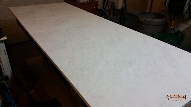 Faux Marble Finished Table Top