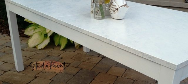 How to Create a Faux Marble Finished Table Top