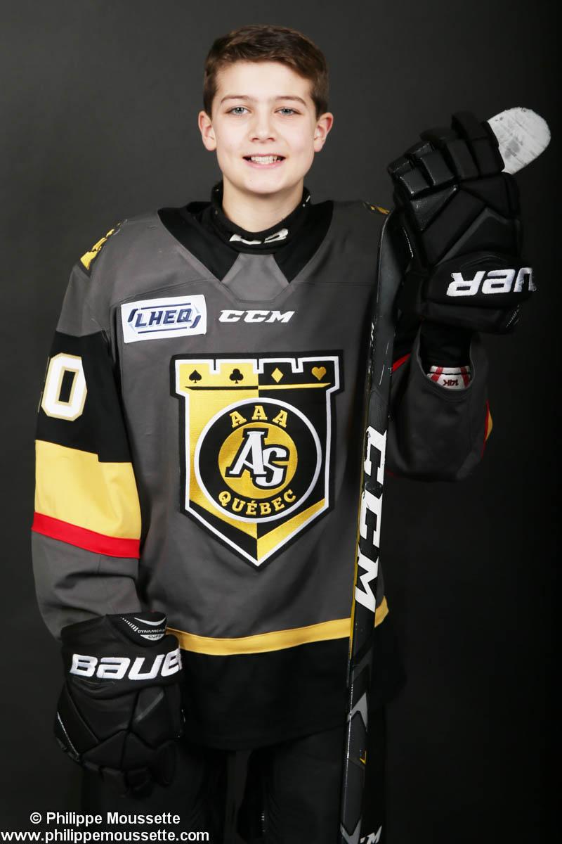 Hockeyeur avec son équipement de sport