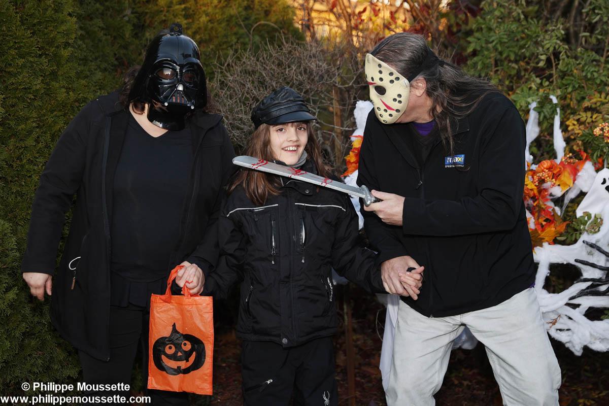 Famille déguisé pour l'Halloween