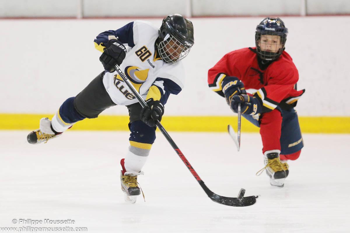 Joueurs qui jouent au hockey