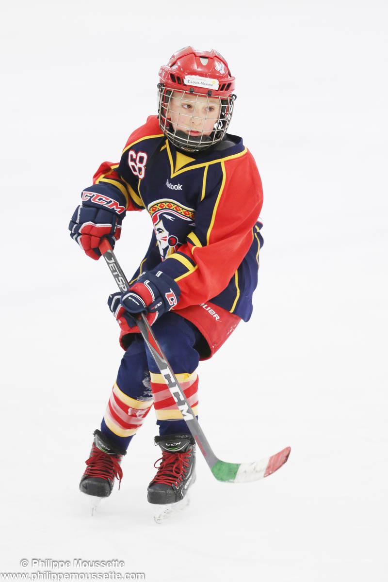 Joueur hockey dans une partie