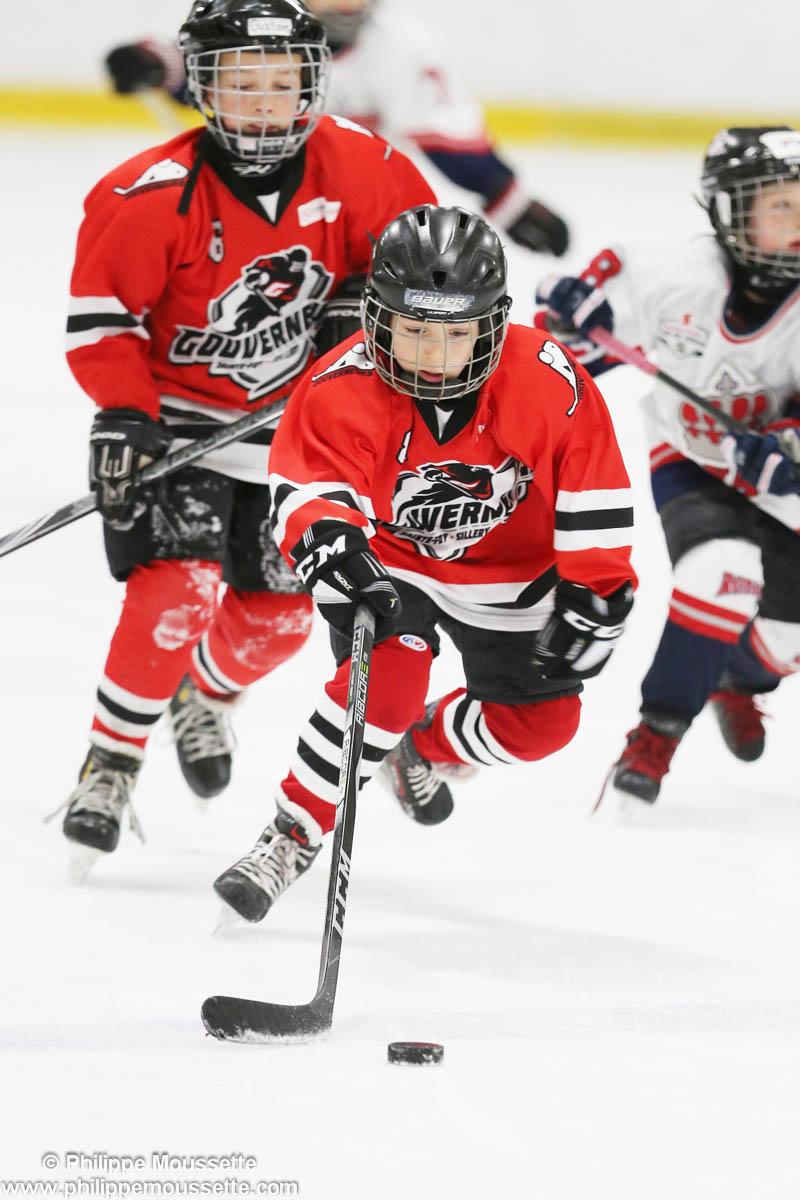Joueurs qui jouent un match de hockey