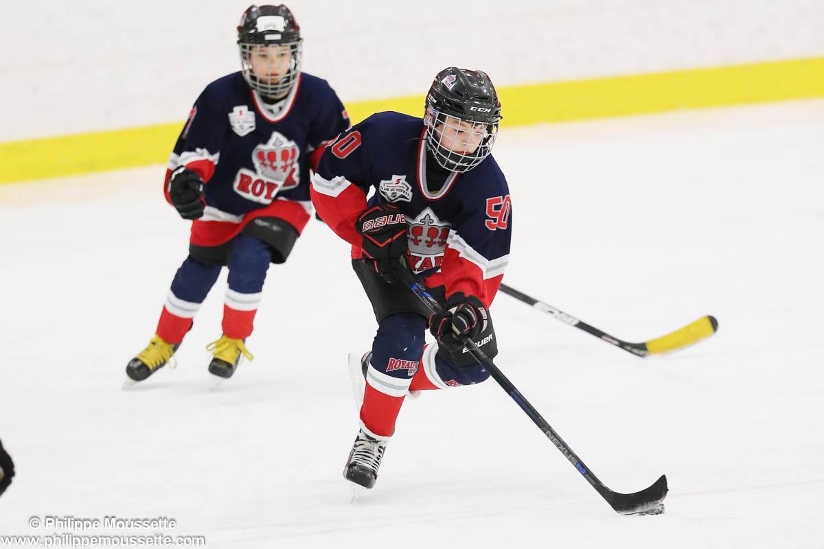 Deux joueurs dans un match de hockey