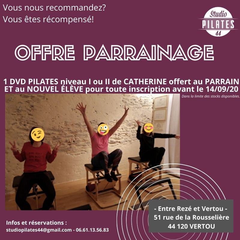 Parrainage inscription Studio pilates 44 Vertou