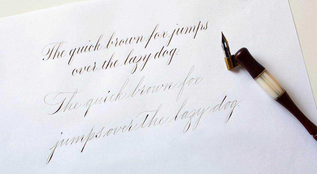 Copperplate vs Spencerian kalligrafie