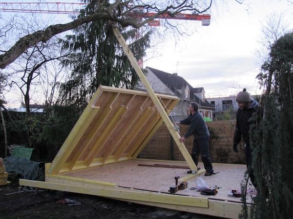studio de jardin en ossature bois