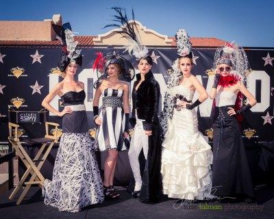 Models Kelly, Cierra, Whitney, Hannah and Tatiana at 2015 Bing Crosby Opening Day at Del Mar