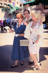 Celebrities having fun with the crowd at the Hollywood Fashion Contest during the 2015 Bing Crosby Opening Day at Del Mar.