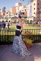 Kelly Lenahan at the paddock. She is styled by Deena & Studio Savvy at 2015 Bing Crosby Opening Day at Del Mar