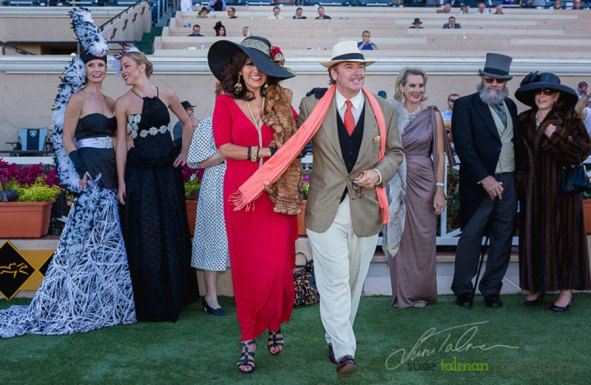 2nd Place Best Dressed Couple at the 2015 Bing Crosby Opening Day at Del Mar