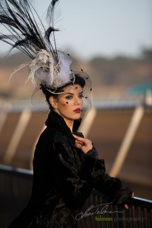 Whittaney Robinson is a striking race track beauty. Styled by Deena and Studio Savvy at 2015 Bing Crosby Opening Day at Del Mar