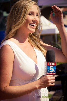 Heather Ford of FOX 5 at 2015 Bing Crosby Opening Day at Del Mar