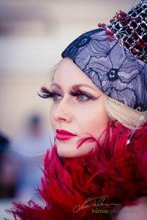 Tatiana Slepova in Hollywood Fashion styled by Deena and Studio Savvy at 2015 Bing Crosby Opening Day at Del Mar