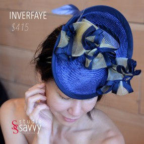 Inverfaye Woman's Hat. Come out for the Studio Savvy Salon Trunk Show-Hat Sale, July 13th, 2016