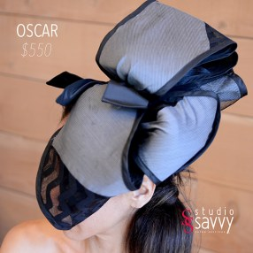 Oscar Woman's Hat. Come out for the Studio Savvy Salon Trunk Show-Hat Sale, July 13th, 2016