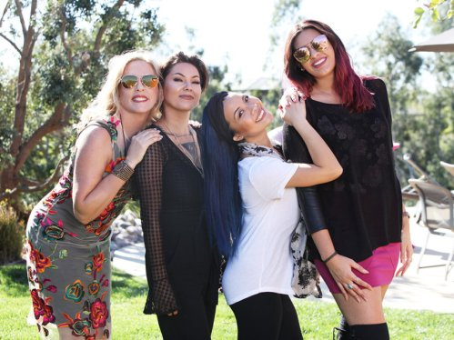Studio Savvy Glam Squad at Zandra Rhodes Pretty in Pink PreBall Fashion Show. Deena, Victoria, Anna and Stephanie.