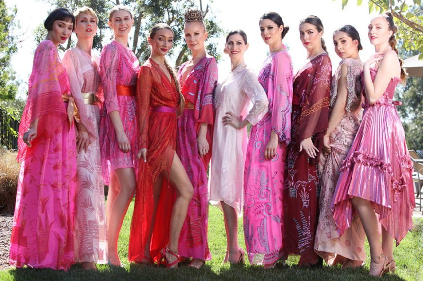 Dame Zandra Rhodes fashions for the San Diego Opera Pretty in Pink Ball
