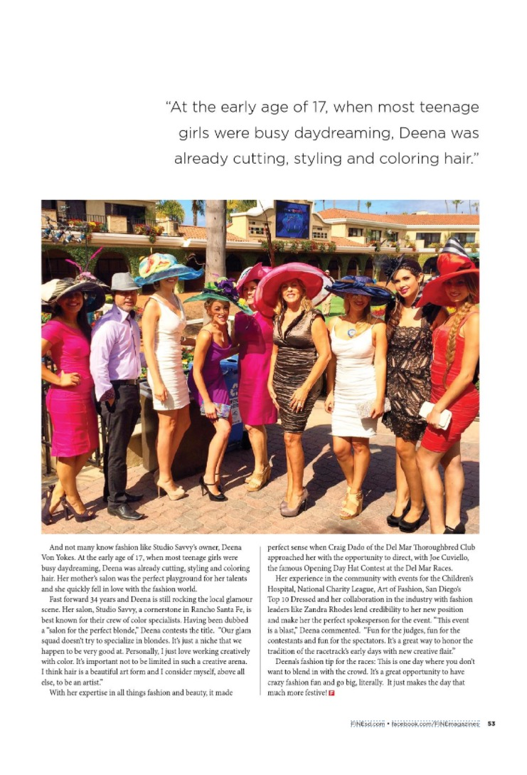Deena & The Glam Squad take FINE Magazine