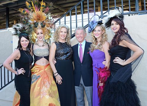 The Studio Savvy girls with Joe Harper at Opening Day of the new November race season at Del Mar Racetracks