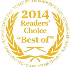 """Voted Readers Choice """"Best of"""" Hair Salon for 2014 North County San Diego"""