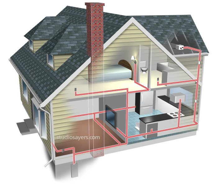 HOME ELECTRICAL WIRING ILLUSTRATION   StudioSayers home electrical wiring cutaway