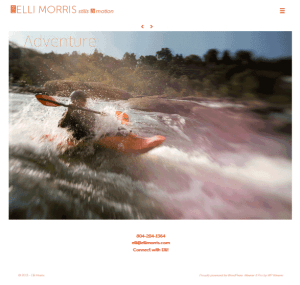 elli morris stills & motion website designed by shelli