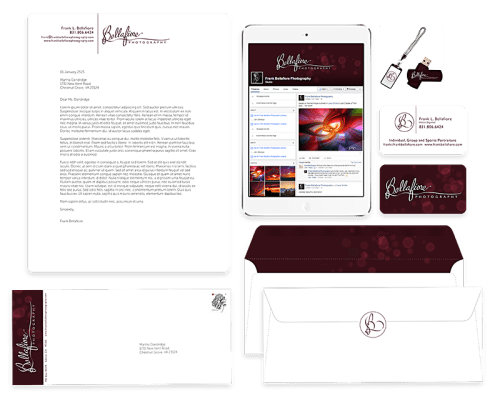 bellafiore photography branding designed by shelli - applied use overview