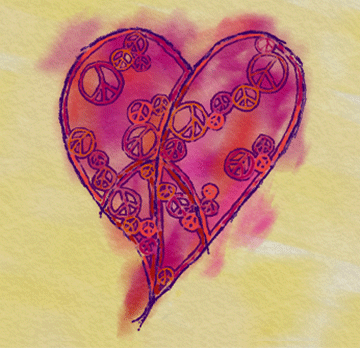 """february free """"peace - pass it on"""" social media profile picture designed by shelli"""