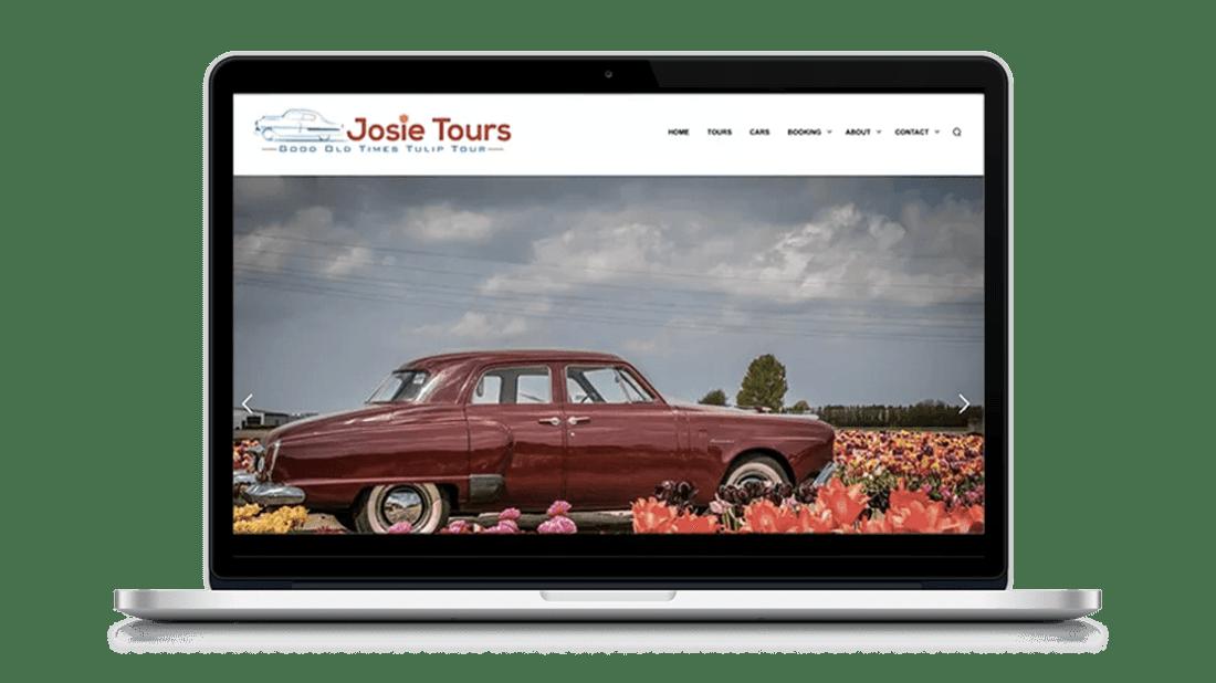 Website Josie Tours door Studio Solveig