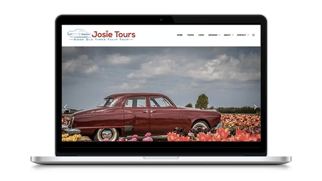 Website Josie Tours door Studio Solveig
