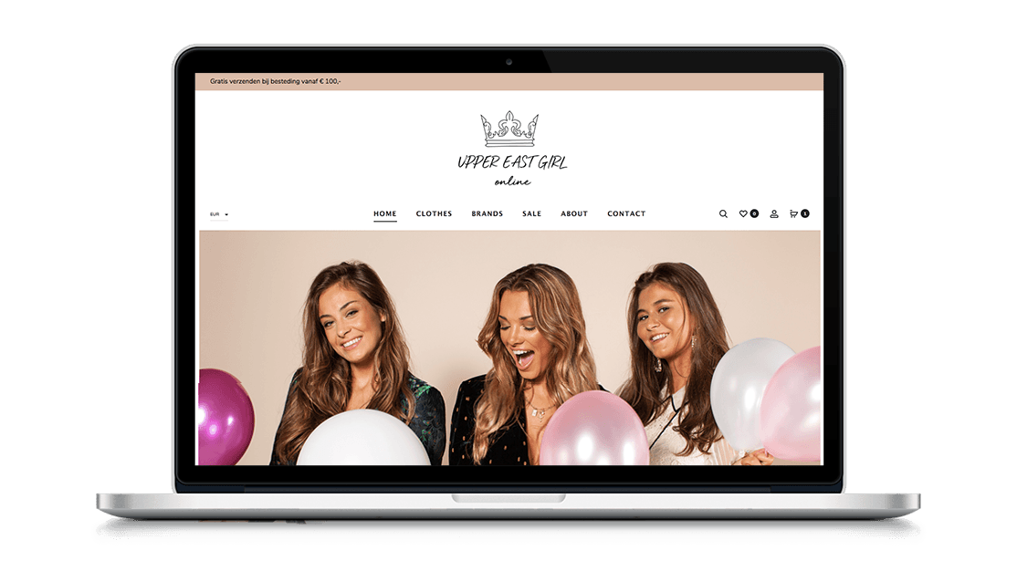 Website UpperEastGirl door Studio Solveig