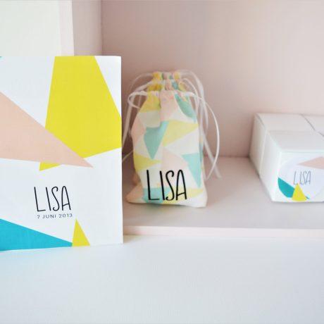 Doopsuiker en kaartje Lisa