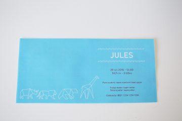 Geboortekaartje op maat Jules