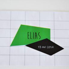 geboortekaartje Elias