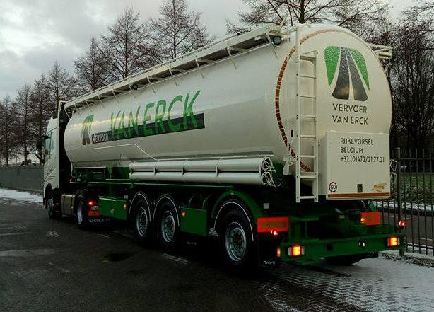 Bestickering bulkwagen Vervoer Van Erck