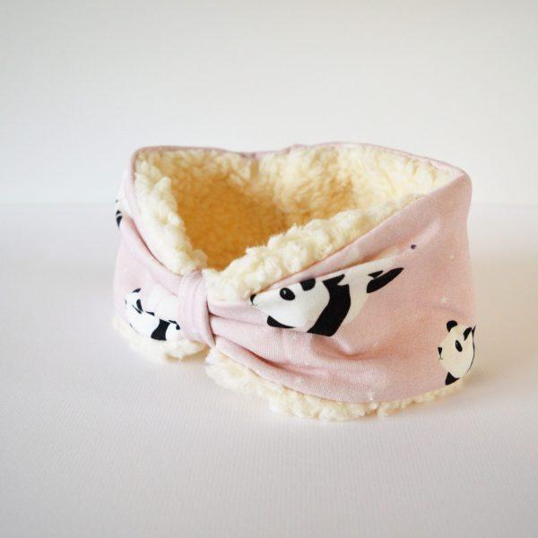 roze haarband panda