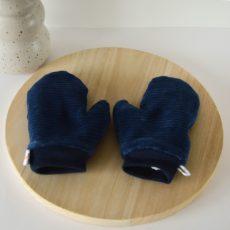 blauwe ribfluweel wantjes