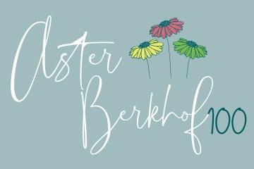 logo Aster Berkhof 100 jaar ontwerp door Studio Stiel