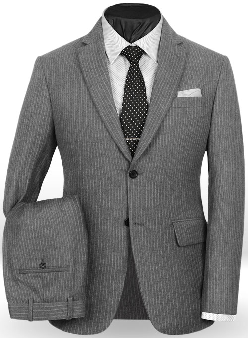 Light Weight Gray Stripe Tweed Suit : StudioSuits: Made To ...