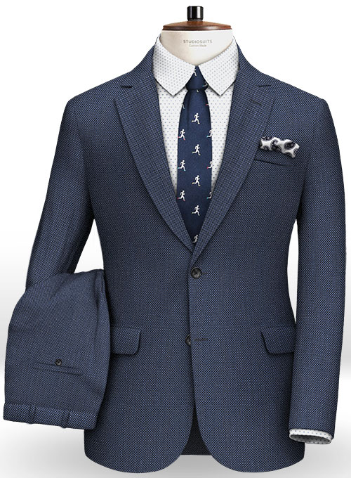Napolean Royal Blue Birdseye Wool Suit : StudioSuits: Made ...
