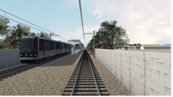 Visualization of Exposition Light Rail Transit Line (Expo Line)