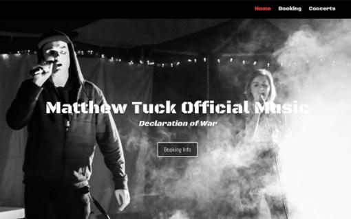 Matthew Tuck Official Music