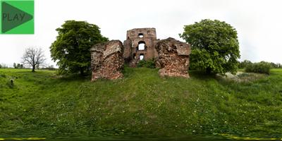 Borysławice Zamkowe ruiny zamku z XV wieku