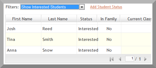 Student Filtering