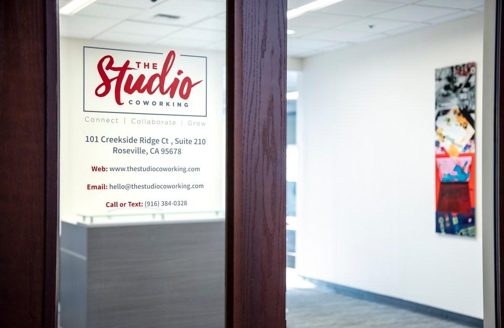suite entrance, the studio coworking creekside roseville