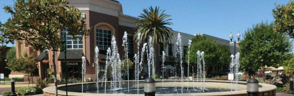The Fountains at Roseville puts on a water show in the Roseville shopping center near the Westfield Galleria at Roseville.