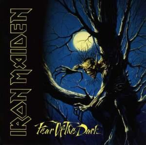 Pochette du neuvième album d'Iron Maiden : Fear Of The Dark (1992)