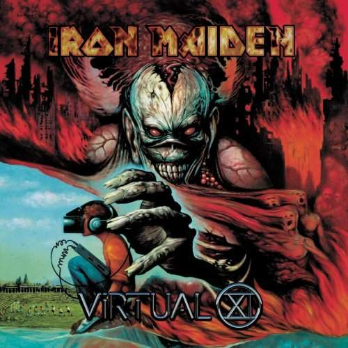 Pochette du onzième album d'Iron Maiden : Virtual XI (1998)