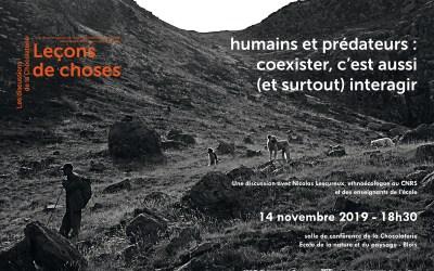 Leçons de choses : la discussion de novembre – ethno-écologie animale